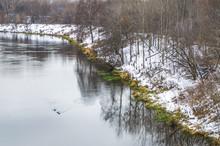 The Skhodnya River In The District Pokrovskoe-Streshnevo In Moscow In The Early Winter