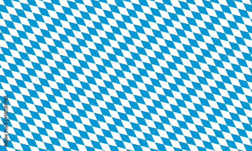 Billede på lærred bavaria flag flat illustration