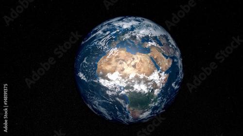 Zdjęcie XXL Niezwykle szczegółowy i realistyczny obraz Ziemi w wysokiej rozdzielczości. Strzał z kosmosu. Elementy tego obrazu są dostarczane przez NASA.