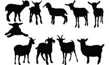 Goat Silhouette Vector Illustr...