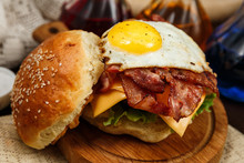 Bacon Burger With Beef Patty A...