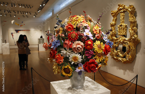 Large Vase Of Flowers By Artist Jeff Koons Which Will Be Sold At