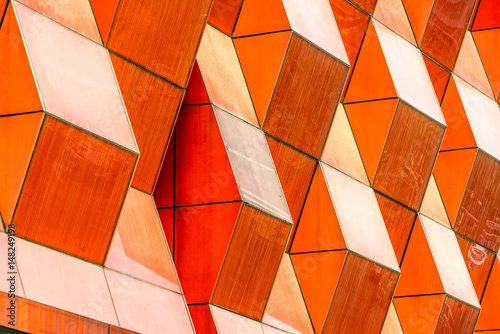 detail shot of modern architecture facade,business concepts,in city of China Fototapeta