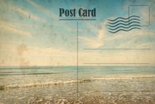 Vintage Summer Postcard. Ocean...