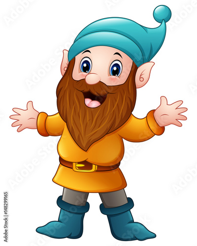 Photo Cute dwarf cartoon