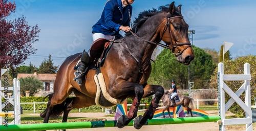 La pose en embrasure Equitation Equitation, saut d'obstacles, compétition.