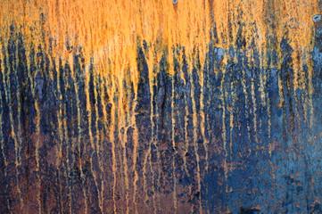 Panel Szklany Old rusty metal