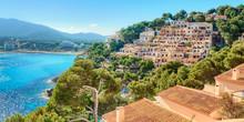 Mallorca Canyamel Spanien Dorf Landschaft Mit Mittelmeer