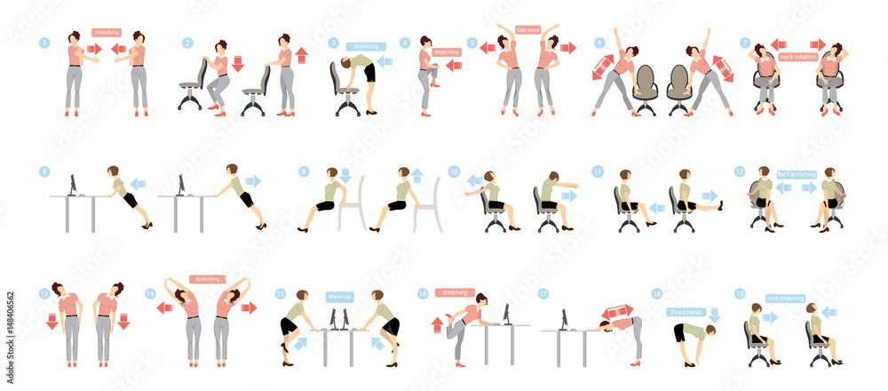 Fotografia Sport exercises for office
