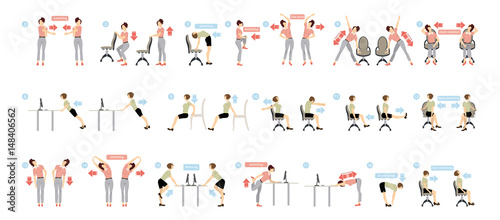 Fototapeta Sport exercises for office