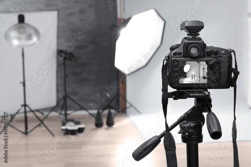 Obraz Modern photo studio with professional equipment - fototapety do salonu