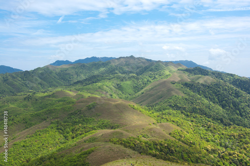 Mountains scenery with blue sky background in summer  #148418738