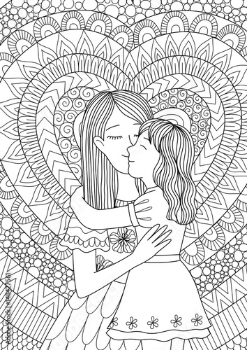 Coloring pages: Coloring pages: Kiss, printable for kids & adults ... | 500x354