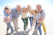Leinwandbild Motiv Portrait of happy intergenerational family