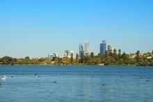 Perth City Across The Lake Monger, Australia