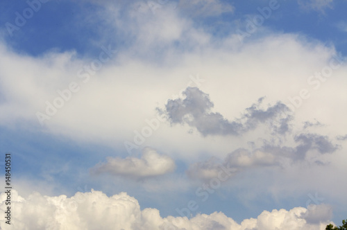 Foto op Canvas UFO Clouds in sky