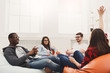 canvas print picture - Creative professional designers discussing ideas
