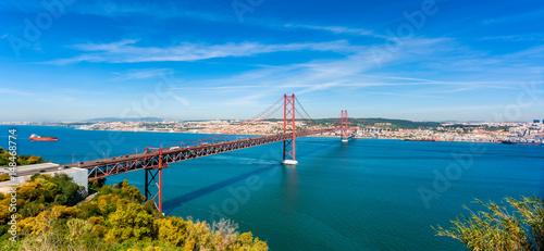 April 25th Bridge and Tagus River in Lisbon Portugal Canvas Print