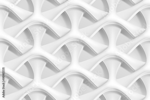 Cuadros en Lienzo  Vector seamless abstract geometric 3d waves pattern