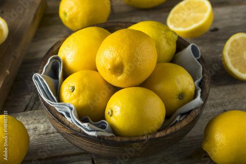 Raw Organic Yellow Lemons