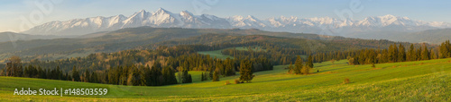 Poster Melon Tatras mountains landscape panorama