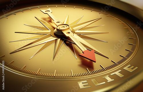 Goldener Kompass - Elite Wallpaper Mural