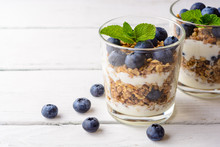 Granola With Yogurt And Bluebe...