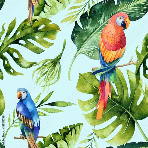 akwarela-wzor-tropikalnych-lisci-gesta-dzungla-malowane-recznie-tekstura-z-lato-zwrotnik-moze-byc-uzywany-jako