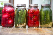 Pickled Eggs Peppers Cucumbers