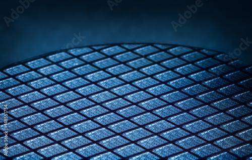 Foto Detail des Silikon-Wafers, der Mikrochips enthält