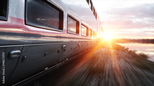 Electric passenger train Canvas