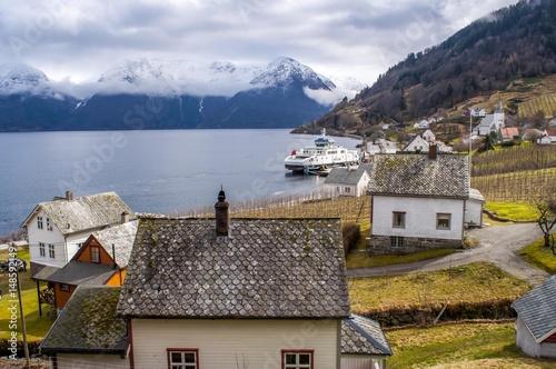 Utne, norweska wioska jak z bajki.