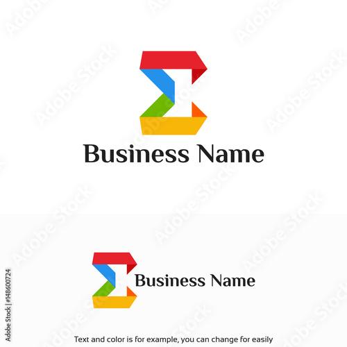 Fotografie, Obraz  Modern Education logo designs template, Modern Sigma Logo
