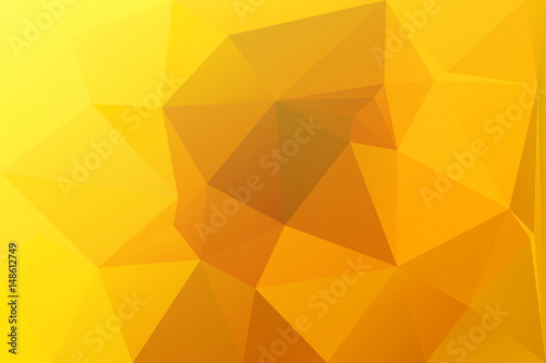 Bright Golden Yellow Low Poly Background