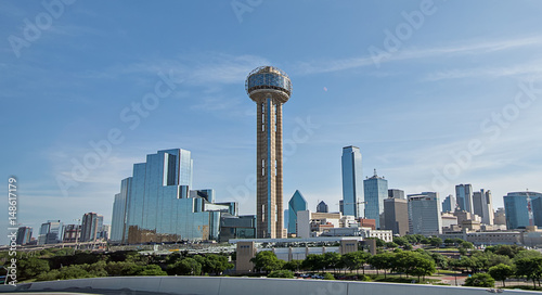 Poster Texas dallas texas city skyline and downtown