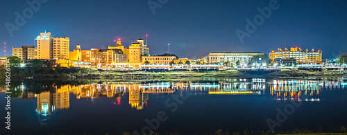 monroe louisiana city skyline at night Fotobehang