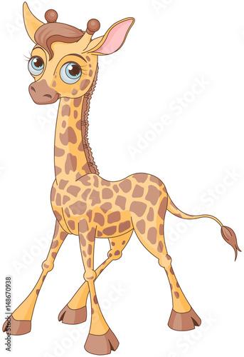 In de dag Sprookjeswereld Cute Giraffe