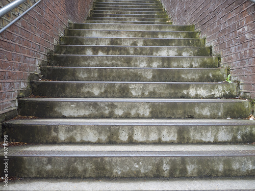 Spoed Foto op Canvas Trappen Concrete steps