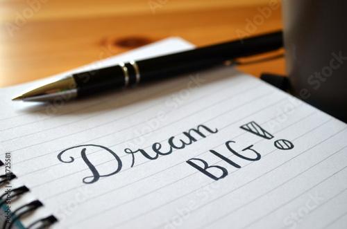 Fotografia  DREAM BIG Motivational Quote