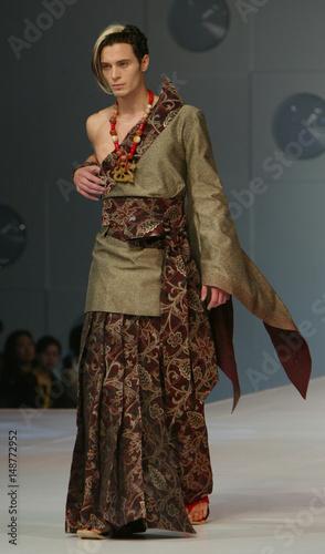 A Model Presents A Creation Of Malaysia Fashion Designer Daniel Choi