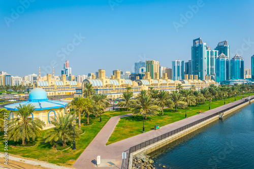 View of the central Souq in Sharjah, UAE - Buy this stock