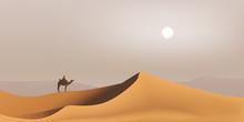 Désert - Sahara - Dune - Bédouin - Dromadaire - Paysage - Maghreb - Tourisme