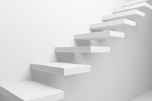 White Ascending Stairs Closeup...