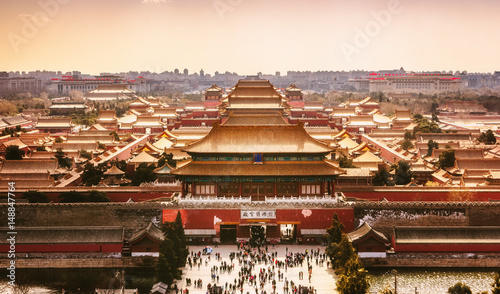 Canvas Prints Peking Verbotene Stadt in Peking, China.