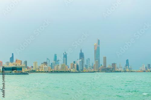Recess Fitting Dubai Skyline of Kuwait during sunset