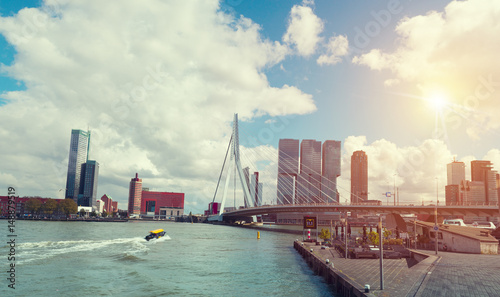 Fotobehang Rotterdam Rotterdam City, Oude Haven oldest part of the harbour,