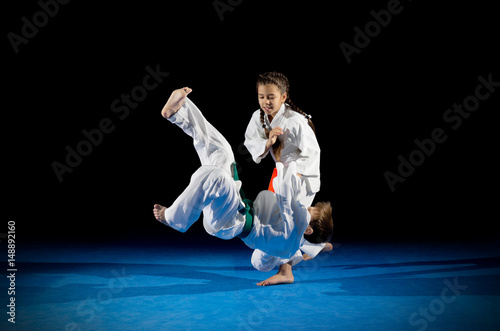 Garden Poster Martial arts Children martial arts fighters