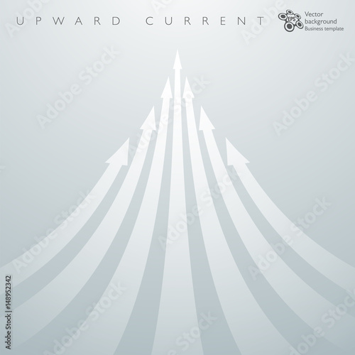 Infographic Background Upward Current _ White Arrows Canvas Print