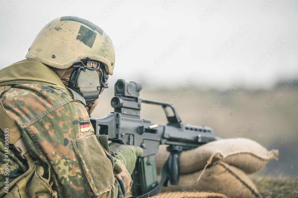 Fototapeta Bundeswehr Schießübung