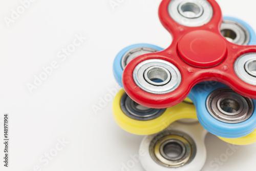Obraz na plátně  Fidget finger spinner stress, anxiety relief toy
